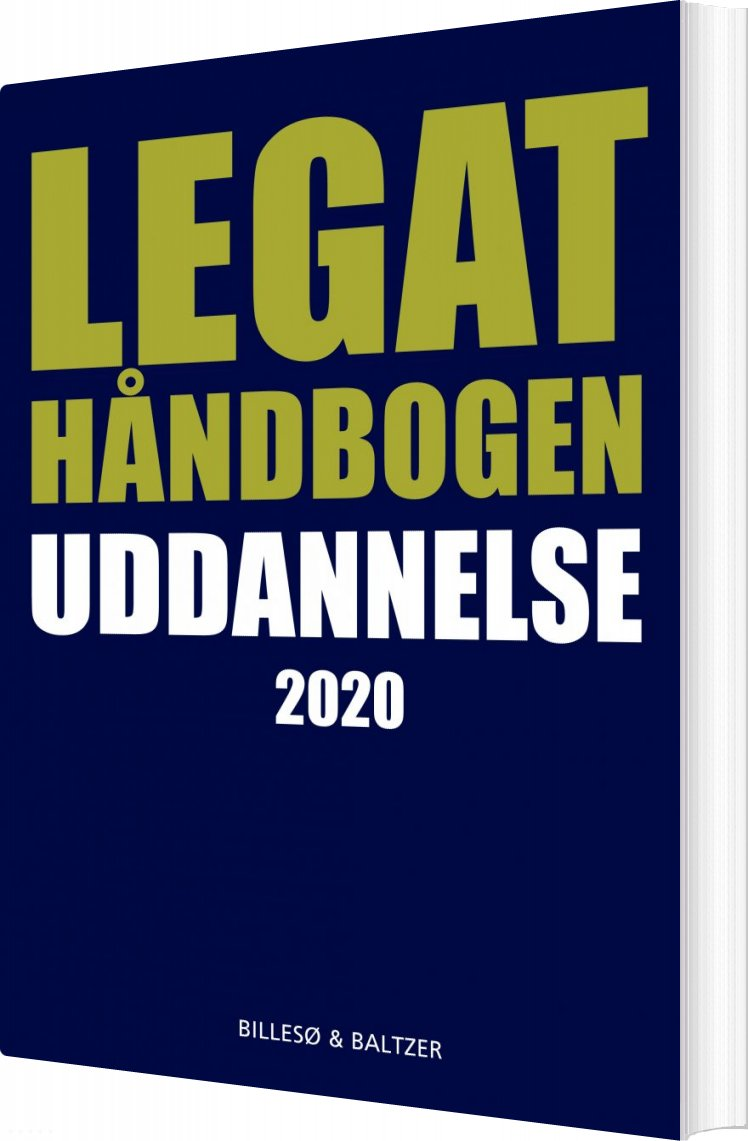 Image of   Legathåndbogen Uddannelse 2020 - Per Billesø - Bog
