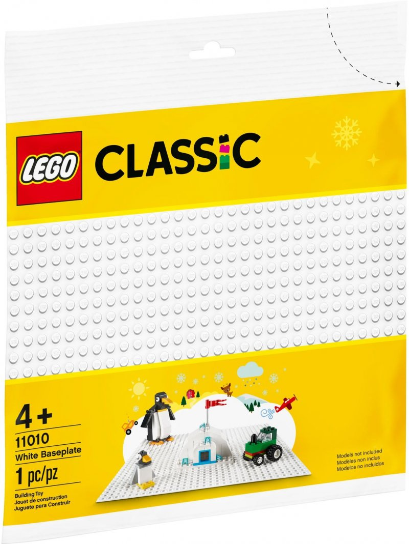 Lego Classic - Hvid Byggeplade - 11010