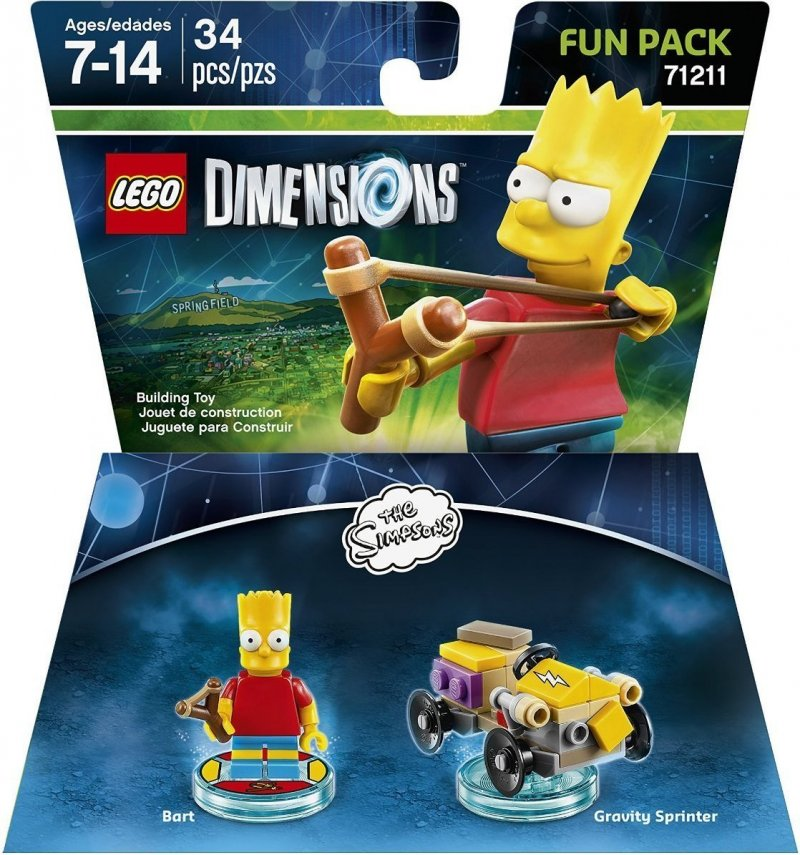 bart simpsons, the simpsons, simpsons, lego dimensionen, lego computerspil, lego dimensions fun packs, lego figuren, legofigur