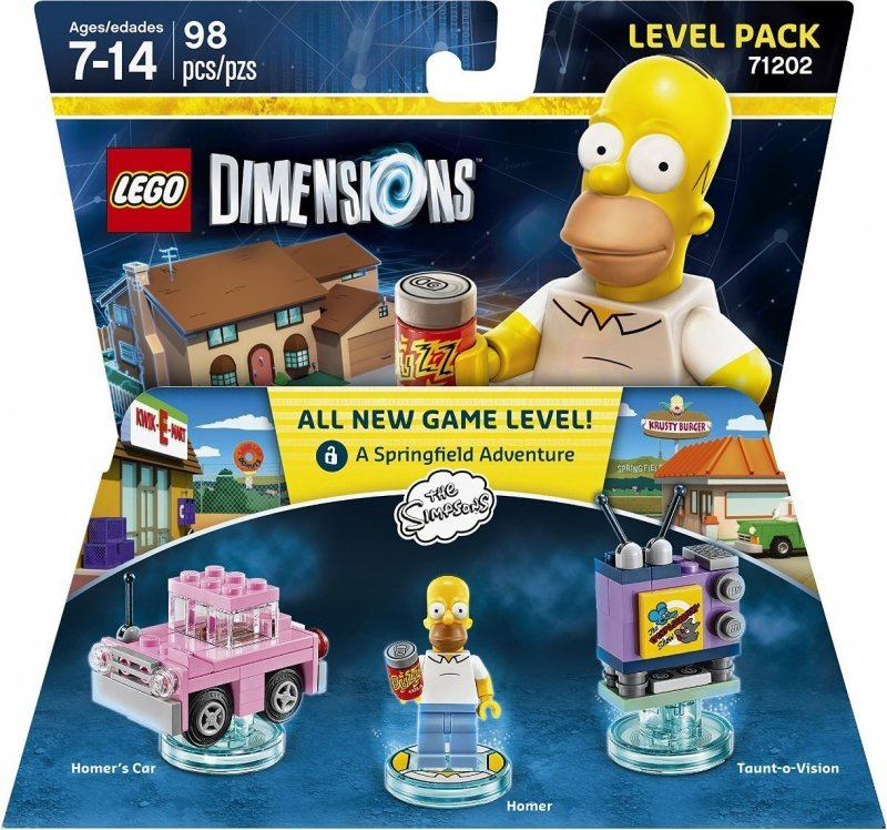 simpsons, the simpsons, lego dimensionen, lego computerspil, lego dimensions fun packs, lego figuren, legofigur
