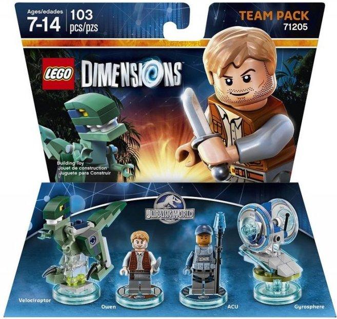 lego 71205, lego dimensioner, lego dimensions team pack jurassic world, lego dimensions dinosaurs