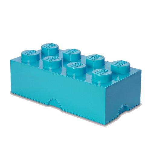 Lego Opbevaringskasse - Brick 8 - Azurblå - Room Copenhagen