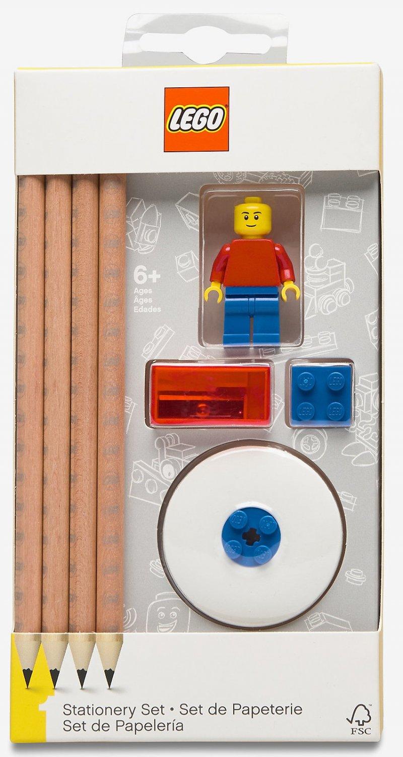 Lego Blyanter - Skrivesæt Med Mini-figur