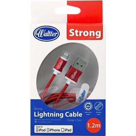Image of   Lightning Kabel Til Iphone & Ipad 1.2m - Rød