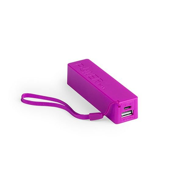 Image of   Lille Usb Powerbank Med Snor 2000 Mah - Lyserød