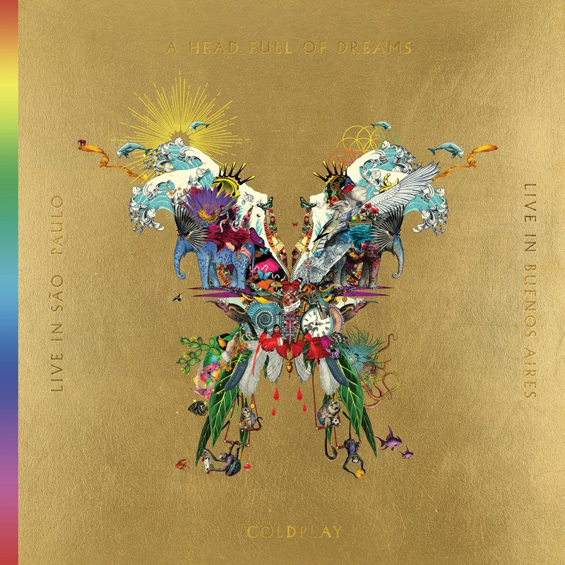837eae58158 Coldplay - Live In Buenos Aires / Live In Sao Paulo / A Head Full Of Dreams  - Cd + DVD - Cd