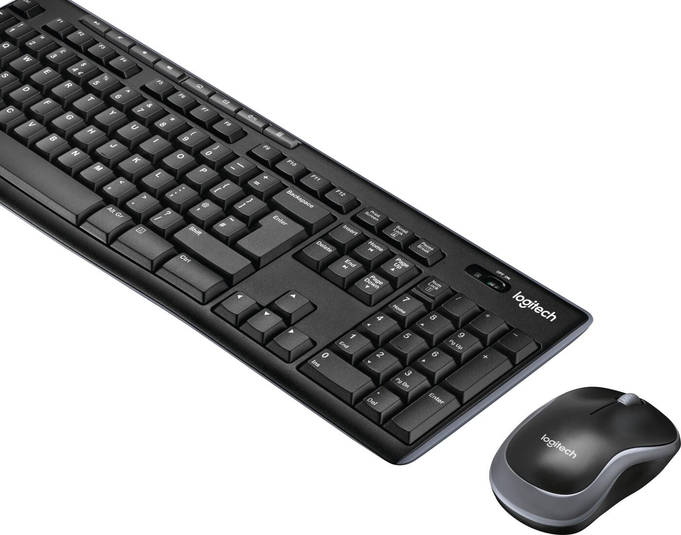 Image of   Logitech Mk270 Trådløs Tastatur Og Mus Sæt