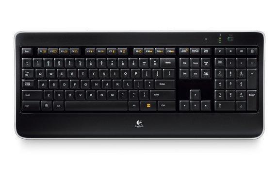 Image of   Logitech K800 Trådløs Tastatur Med Lys Og Nordisk Layout
