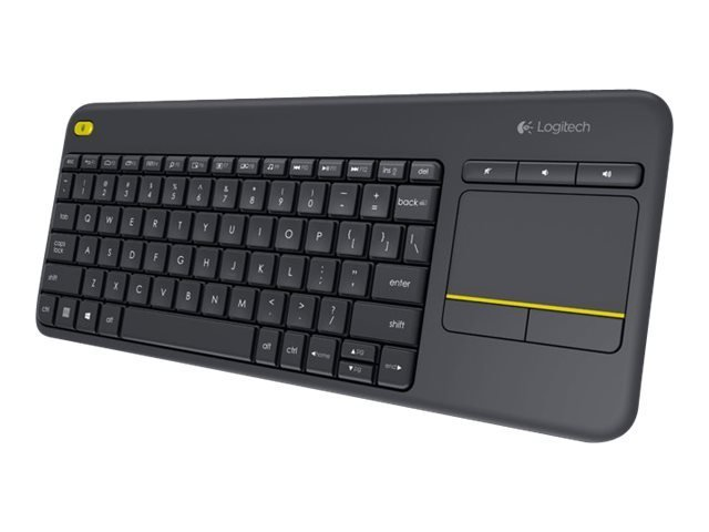 Image of   Logitech K400 Plus - Trådløs Tastatur Med Touchpad - Nordisk Layout - Sort