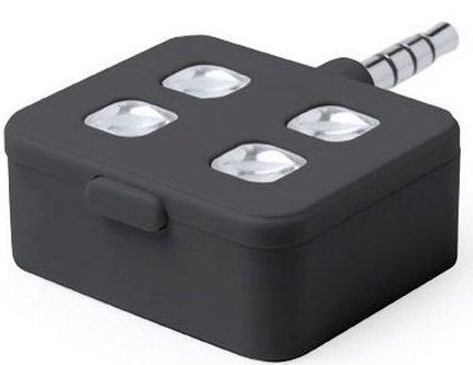 Image of   Lommelygte Til Iphone Og Android Mobiler Med Minijackstik - Sort