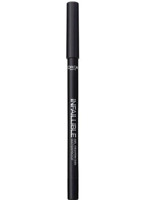 Image of   Loreal Infallible Eyeliner Gel - 01 Back To Black