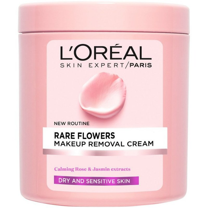 Image of   Loreal Rare Flowers Makeup Removal Cream - 200 Ml.