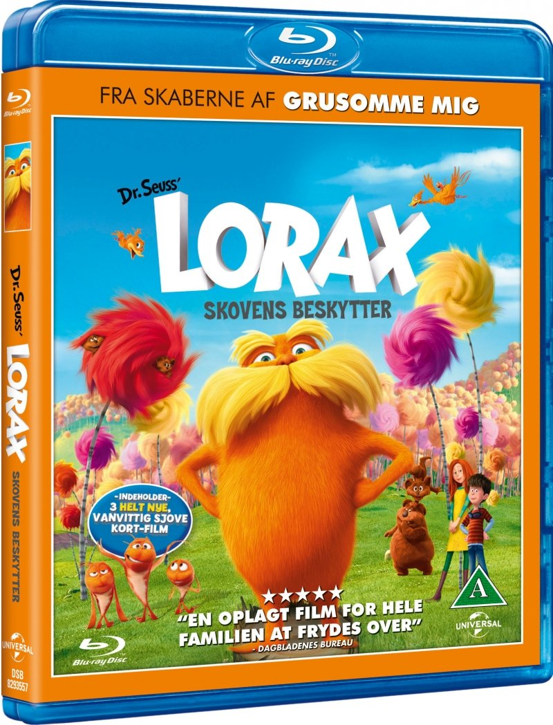 Image of   Lorax - Skovens Beskytter - Blu-Ray