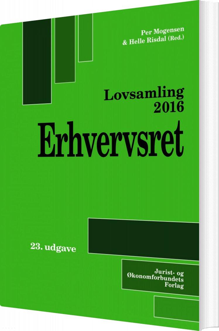 Image of   Lovsamling 2016 - Erhvervsret - Per Mogensen - Bog