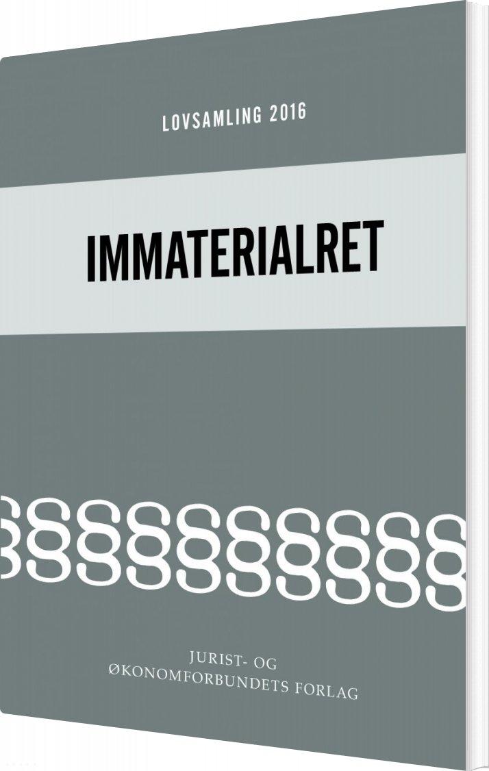 Image of   Lovsamling 2016 - Immaterialret - Morten Rosenmeier - Bog