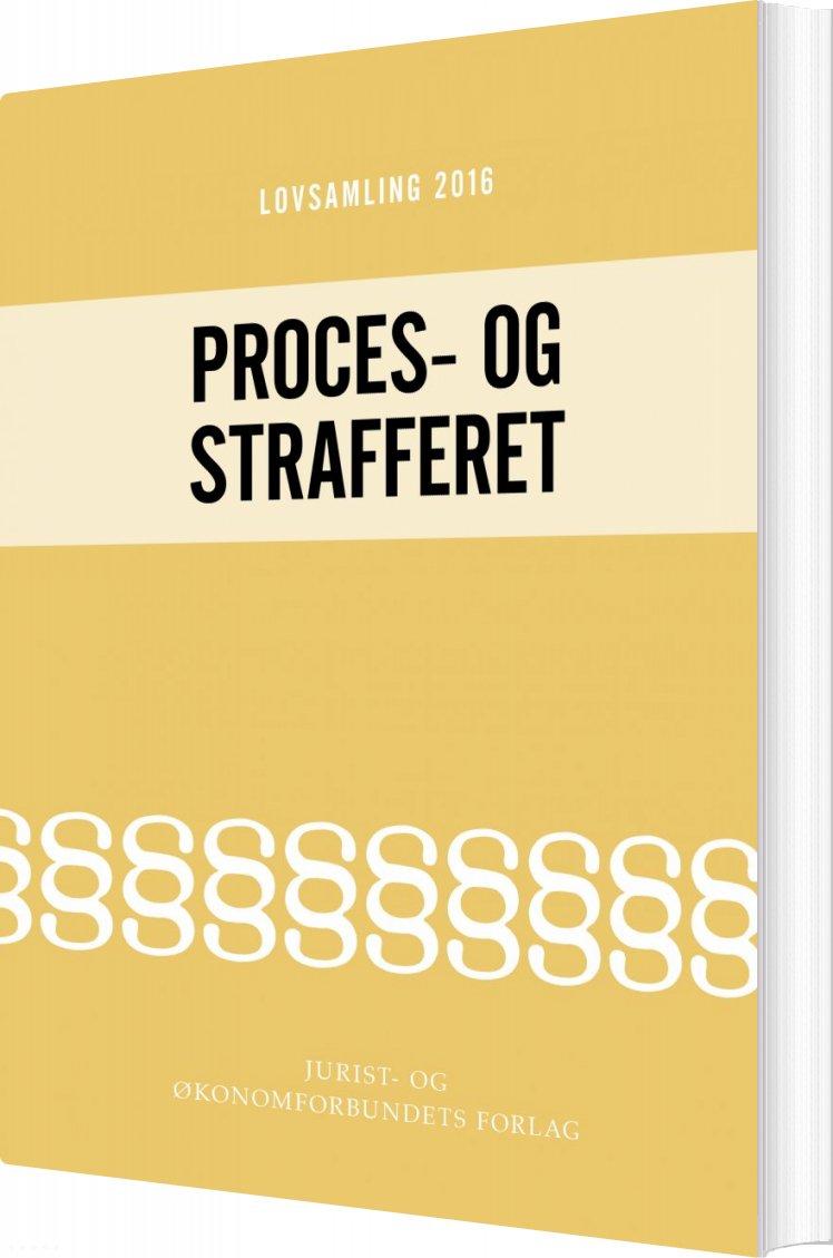 Image of   Lovsamling 2016 - Proces- Og Strafferet - Jens Møller - Bog