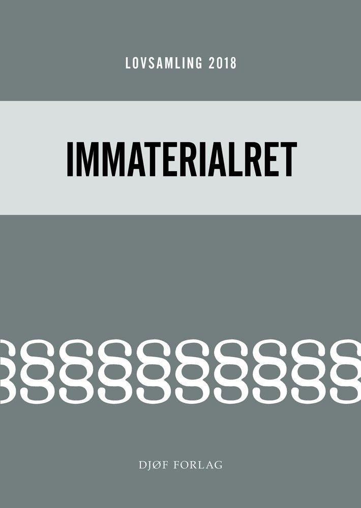 Image of   Lovsamling 2018 - Immaterialret - Morten Rosenmeier - Bog