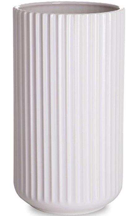 Image of   Lyngby Vase 25 Cm Hvid - Lyngby By Hilfling Vasen