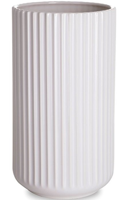 Lyngby Vase 25 Cm Hvid - Lyngby By Hilfling Vasen → Køb billigt her