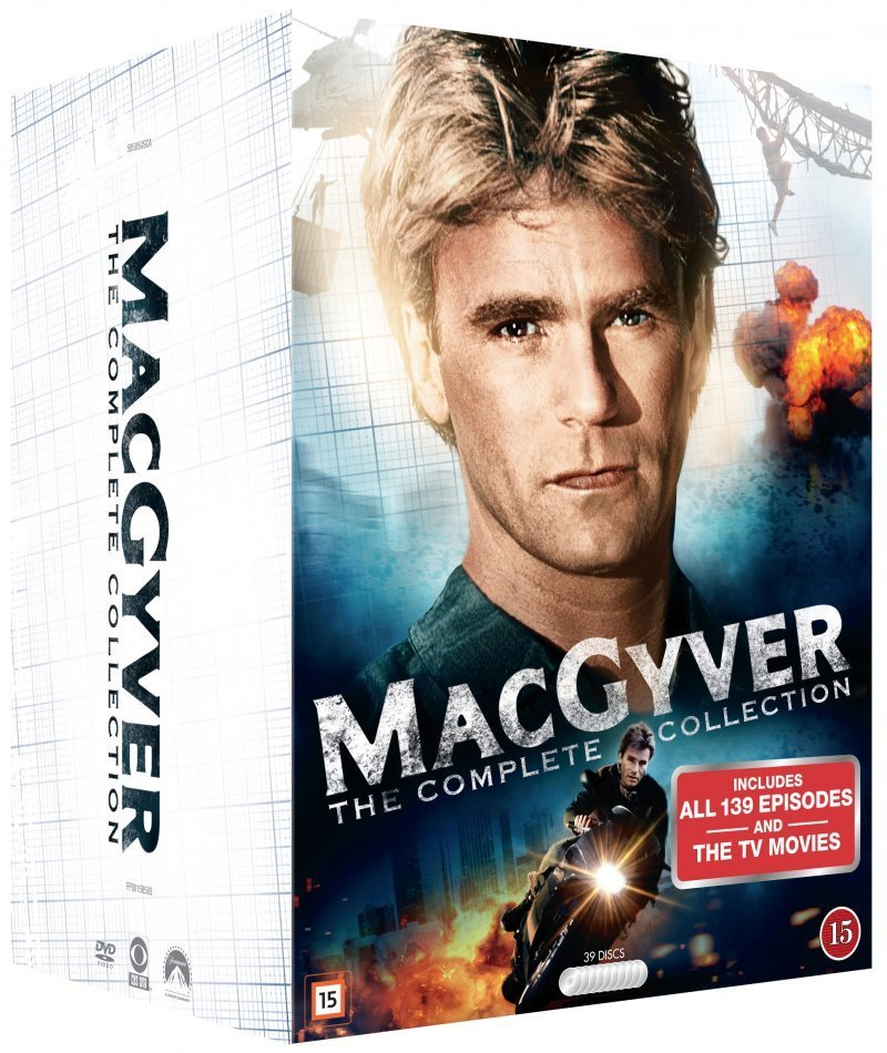 Image of   Macgyver Box - Komplet - Sæson 1-7 - DVD - Tv-serie