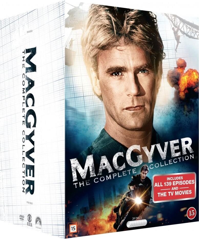 Image of   Macgyver Box - Komplet - Sæson 1-7 - DVD - Tv-serie