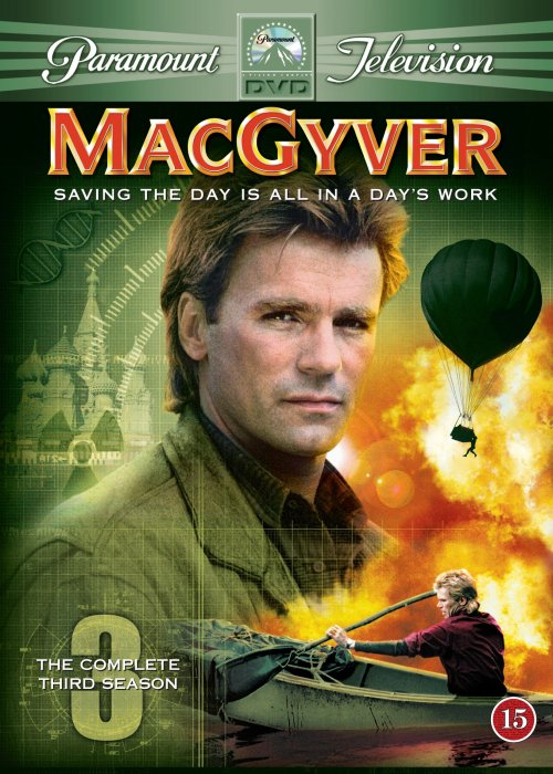 Image of   Macgyver - Sæson 3 - DVD - Tv-serie