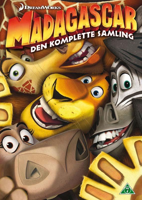 Billede af Madagascar 1-3 Box - Den Komplette Samling I Boks - DVD - Film