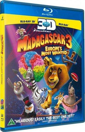 Image of   Madagascar 3 - Efterlyst I Hele Europa - 3D Blu-Ray