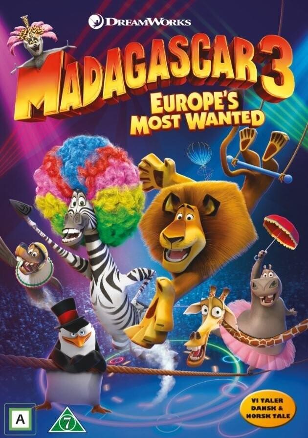 Billede af Madagascar 3 - Efterlyst I Hele Europa - DVD - Film