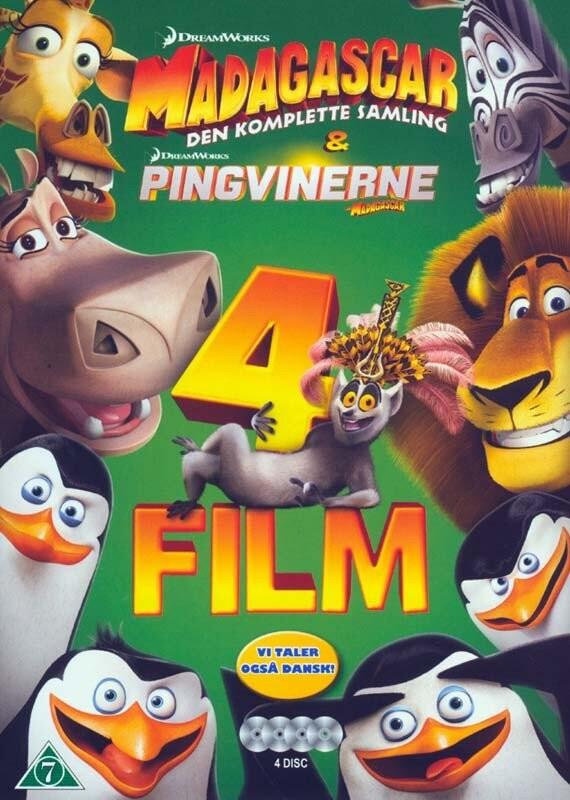 Billede af Madagascar: Den Komplette Samling + Pingvinerne Fra Madagascar - DVD - Film