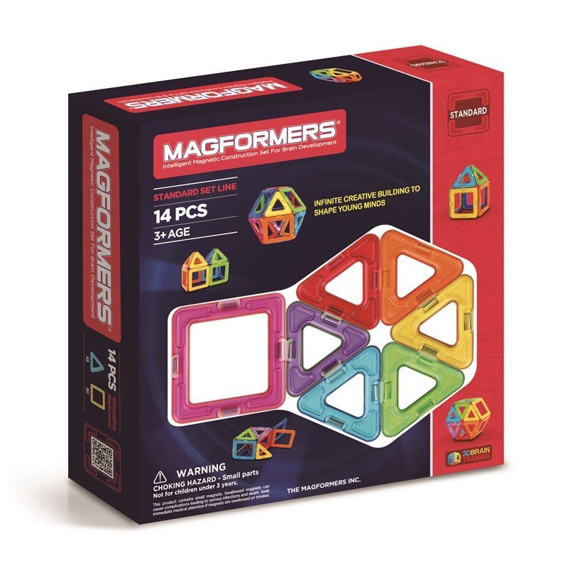 Magformers Magneter Rainbow - 14 Dele