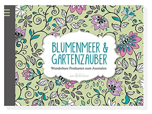 malebog, kreativitet, mandala, stress-af, blomster, postkort