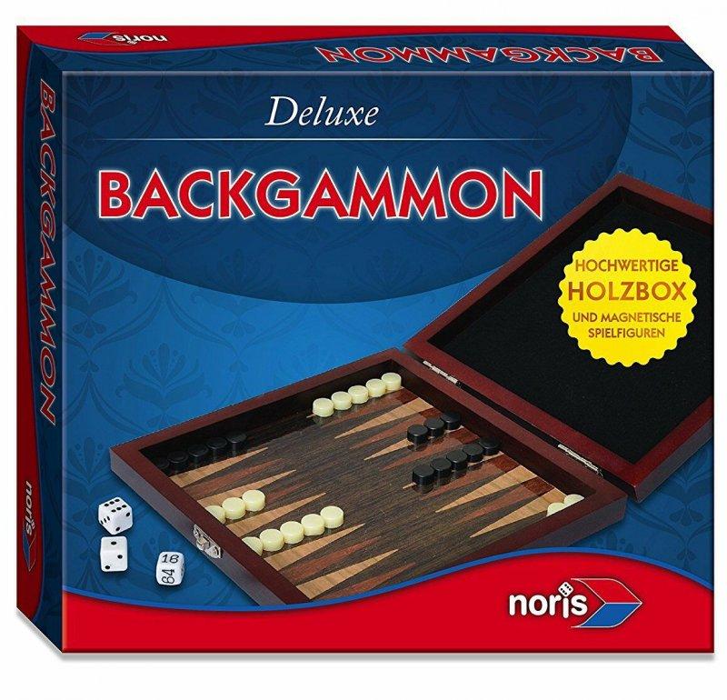 Deluxe Backgammon Brætspil I Træ - Magnetisk