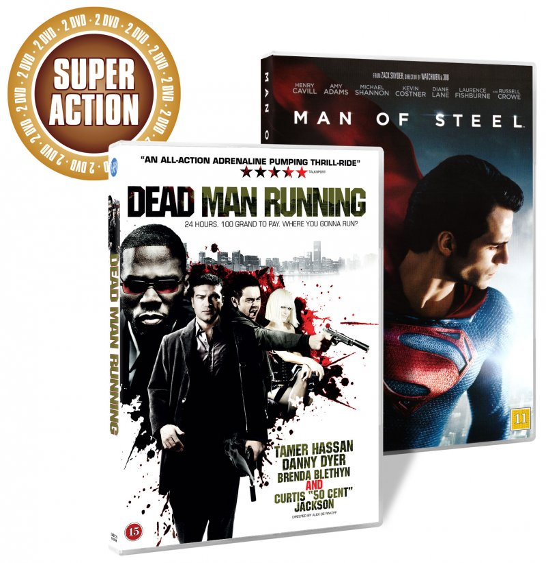 Image of   Man Of Steel // Dead Man Running - DVD - Film