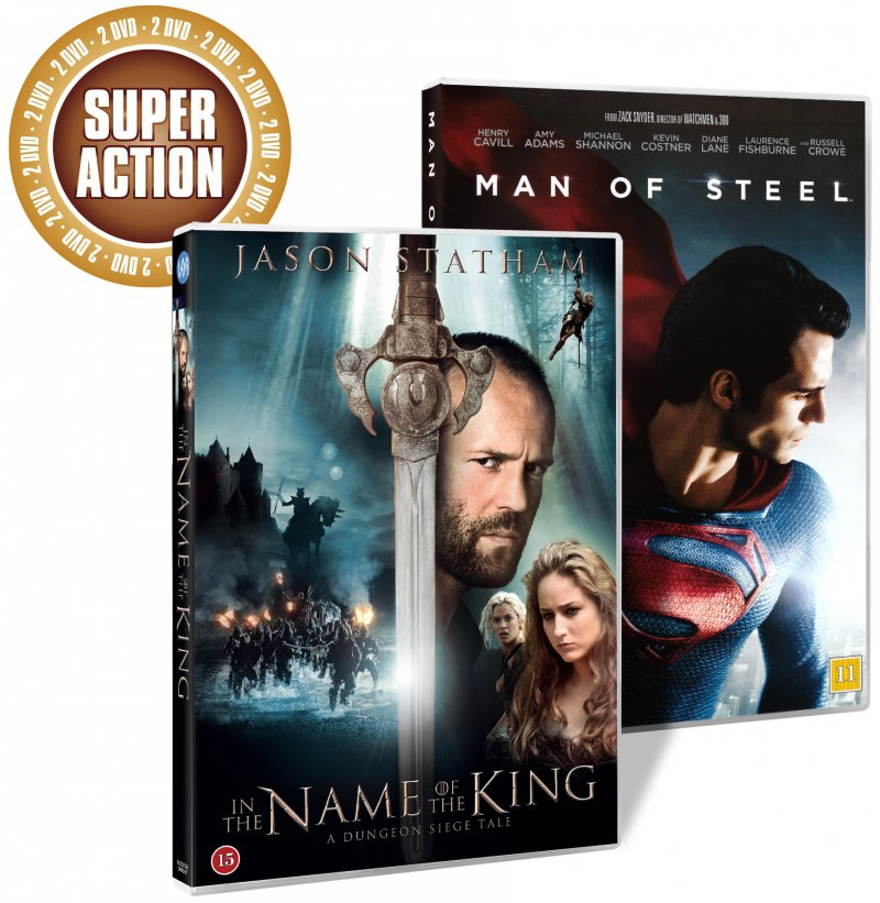 Image of   Man Of Steel // In The Name Of The King - DVD - Film