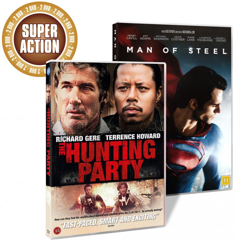Image of   Man Of Steel // The Hunting Party - DVD - Film