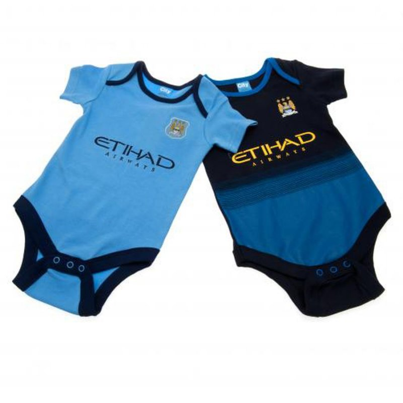 Image of   Manchester City Merchandise - Bodystocking Til Baby - 12-18 Mdr