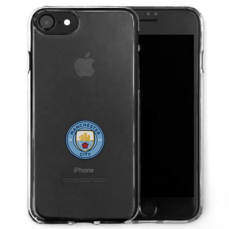 Image of   Manchester City Merchandise - Iphone 7 Cover / Cover Til Iphone 7 - Transparent