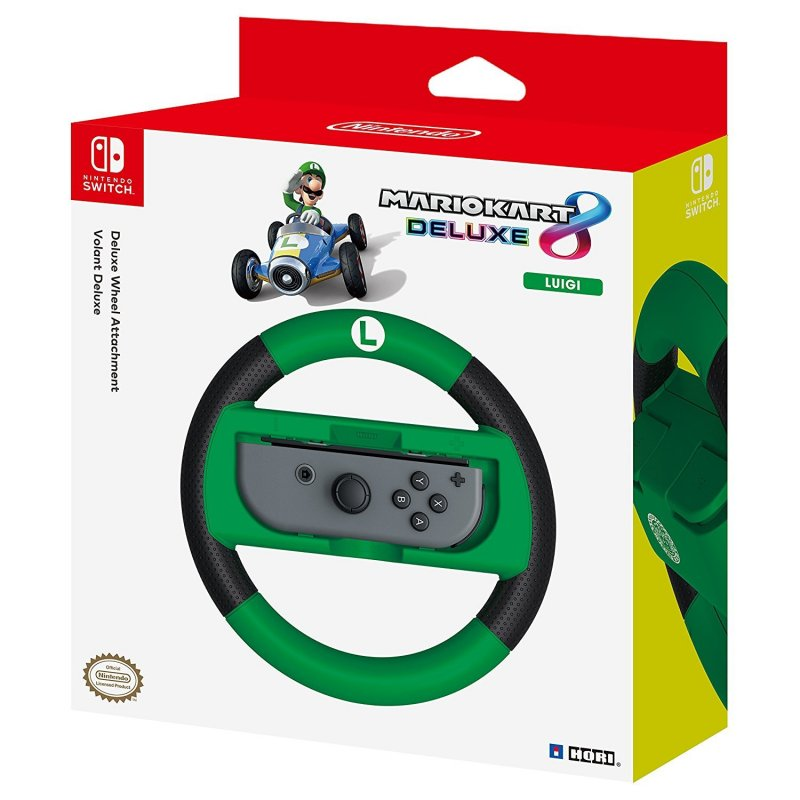Image of   Mario Kart 8 Deluxe Controller - Racing Wheel - Luigi