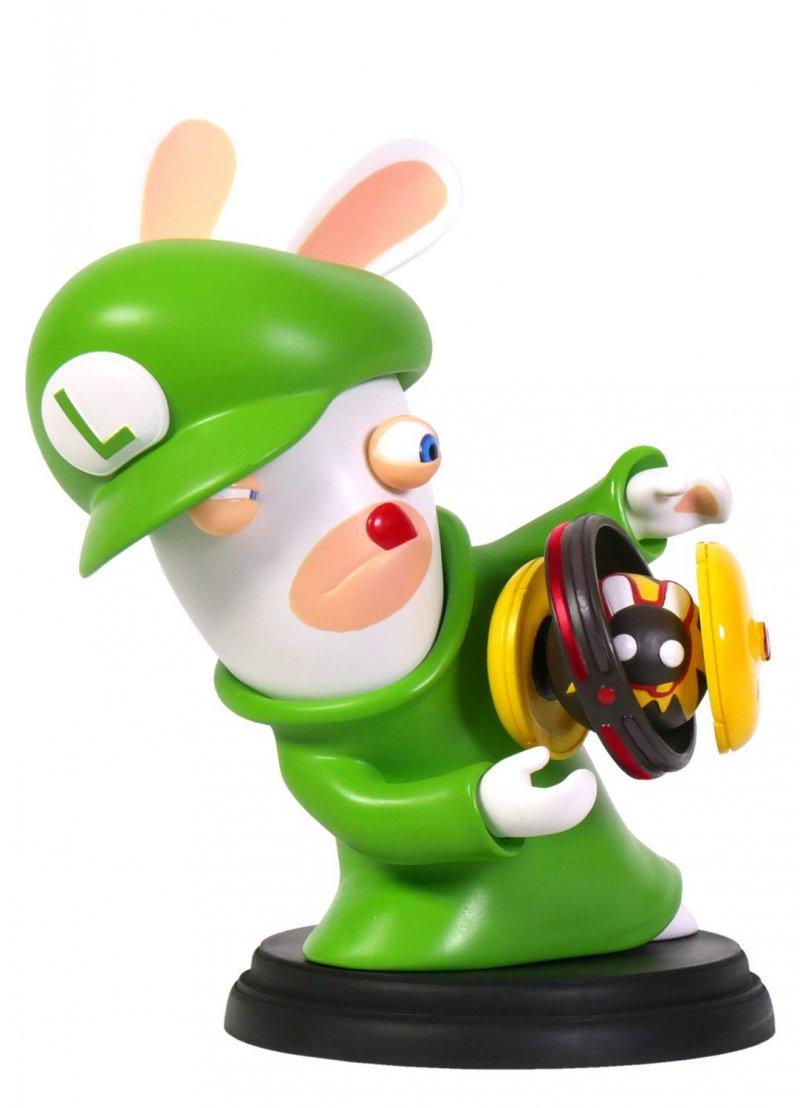Image of   Mario Rabbids Kingdom Battle 3 Inch Luigi Rabbid Figurine