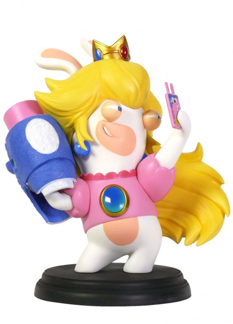 Image of   Mario Rabbids Kingdom Battle Figur - Peach 15 Cm