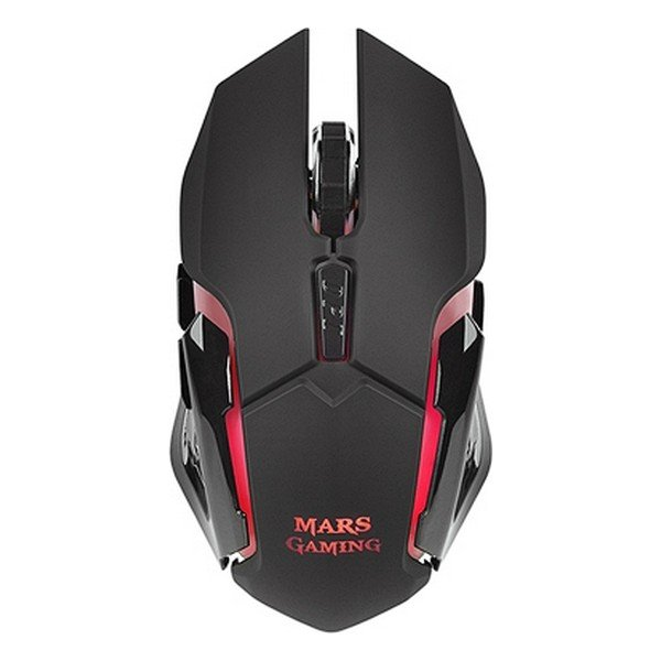 Image of   Mars Gaming - Usb Gaming Mus Med Led Lys - 3.200 Dpi - Sort