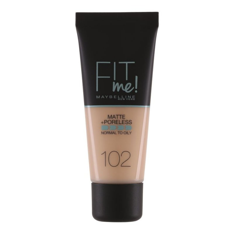 Image of   Maybelline Fit Me Matte + Poreless Foundation - 102 Fair Light