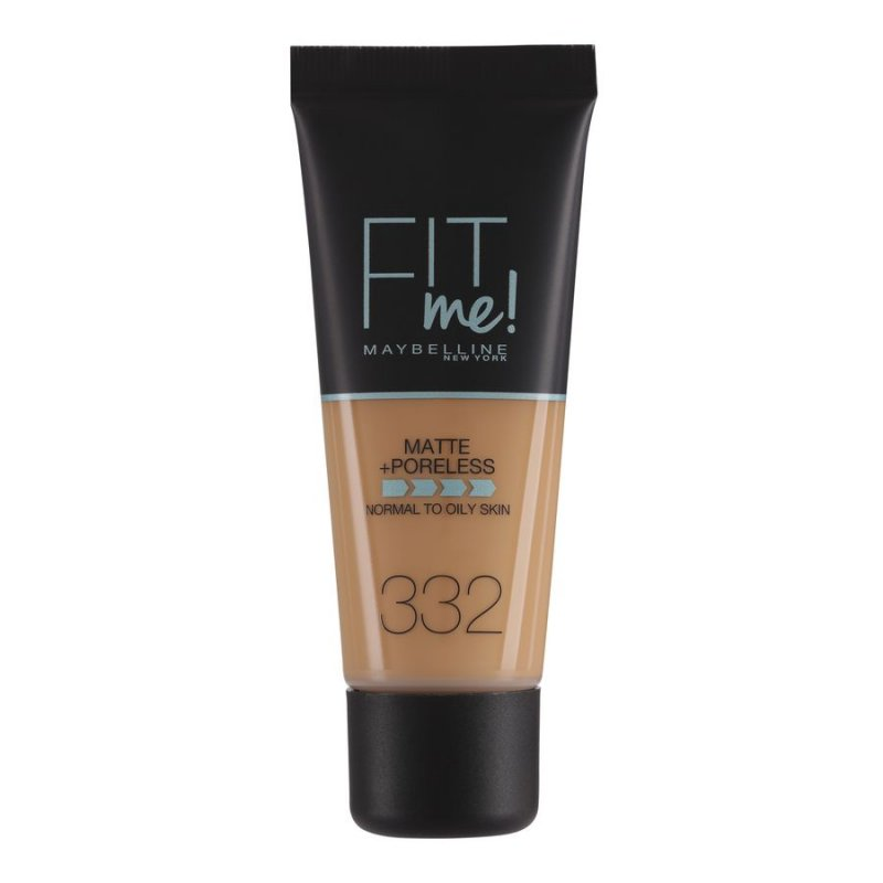 Image of   Maybelline Fit Me Matte + Poreless Foundation - 332 Golden Caramel