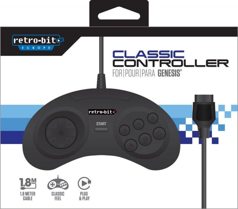 Image of   Retro-bit - Mega Drive Classic Gamepad Controller - Sort