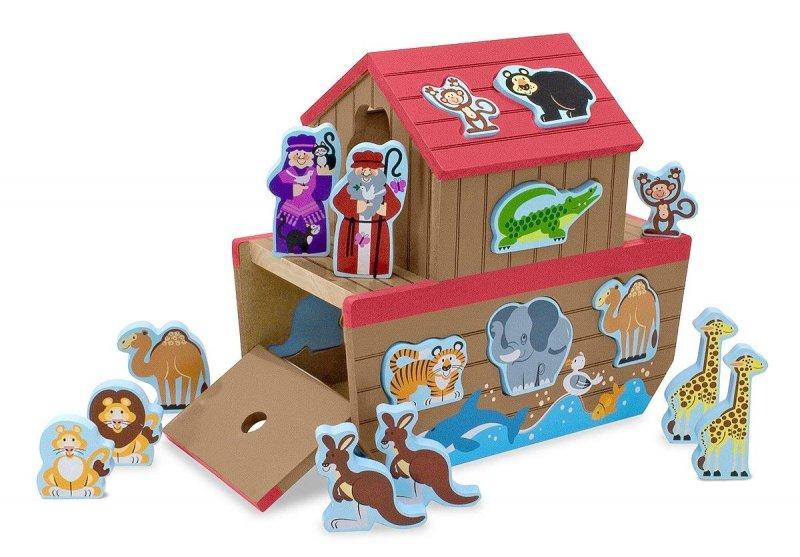 noahs ark legetøj træ