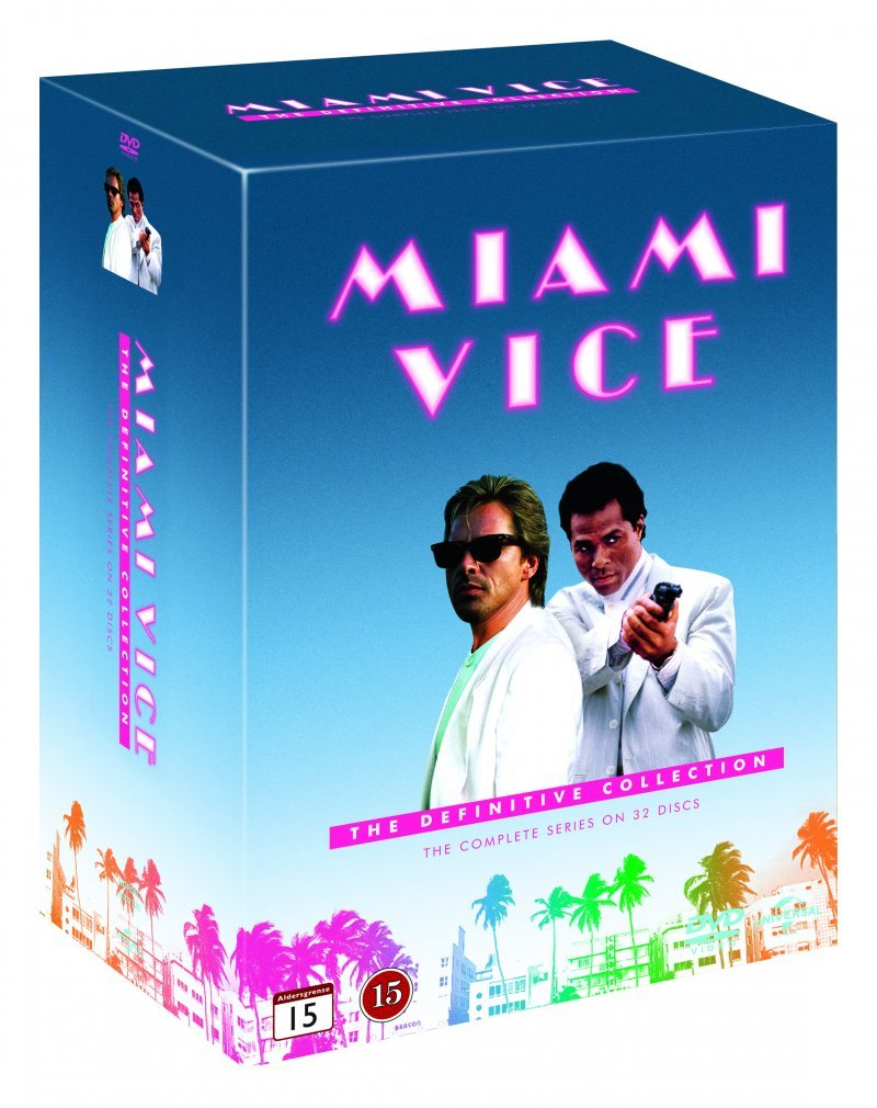 Image of   Miami Vice - Den Komplette Serie - DVD - Tv-serie