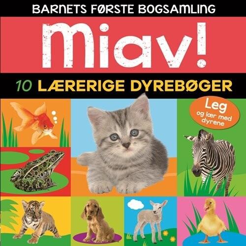 Image of   Miav - 10 Lærerige Dyrebøger (barnets Første Bogsamling) - Diverse - Bog