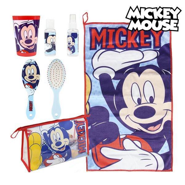 Mickey Mouse - Toilettaske Sæt Til Børn - 6 Dele