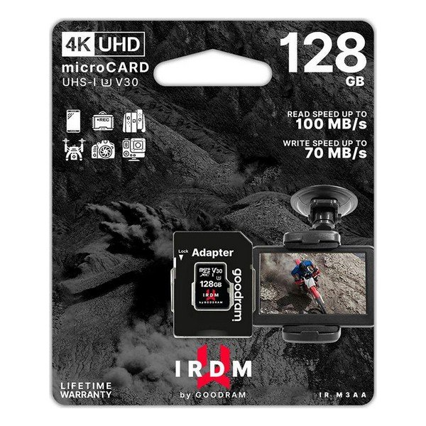 Image of   Micro Sd Kort - 128gb - 4k V30 Uhs-i U3